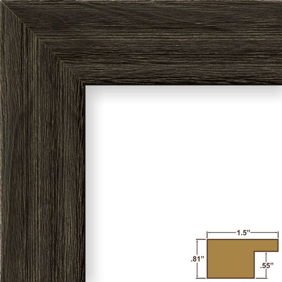 Craig Frames, 17x22 Inch Weathered Black Picture Frame ...