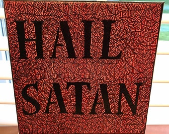 Hail Satan Last Podcast on the Left Inspired Canvas Art