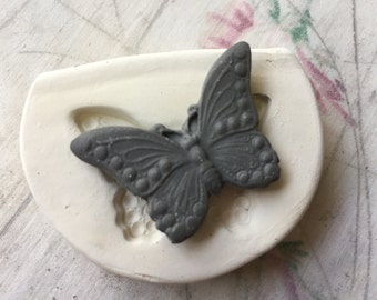 Clay Stamp Small Butterfly Insect Pottery Press Mold Relief Mold or Sprig Mold Bisque Clay Stamp for Ceramic Decoration and Texture