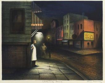 American Art Reproduction: Works Progress Administration Art.  Closing Time, c. 1935, Ann Nooney (1900-1970) - Fine Art Print.