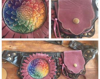 Sacred geometry flower belt