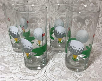 Vintage Tervis 19th Hole Set of 4 High Ball Golf Tumblers Barware
