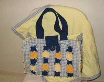 Rag Quilt Diaper Bag Pattern Digital Download by Sew Practical, Mom and Pop Craft