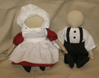 Primitive Quaker Friends or Amish Doll Pattern Digital Download by Sew Practical, Mom and Pop Craft