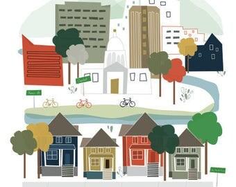 8x10 Downtown Boise