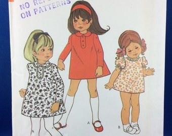 Vintage STYLE Sewing Pattern 2628. UNCUT COMPLETE. Size 5 Child's A-Line Dress