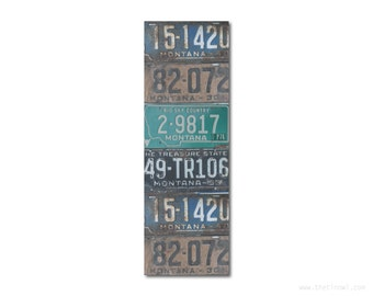 Bookmark Montana License Plates | Stocking Stuffer | Gifts Under 5 | Book Lover | Montana Pride