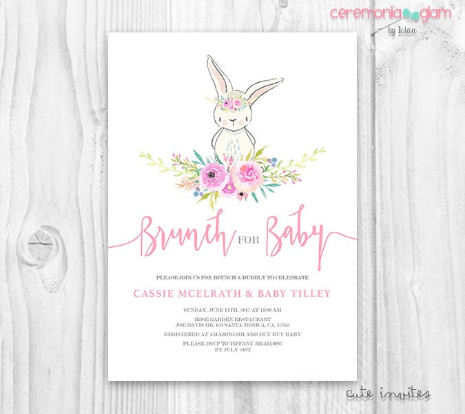 Description. Bunny Baby Shower ...