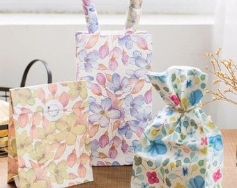 3 Pcs Paper Bag Lunch Gift Bag Wrapping Paper Bag