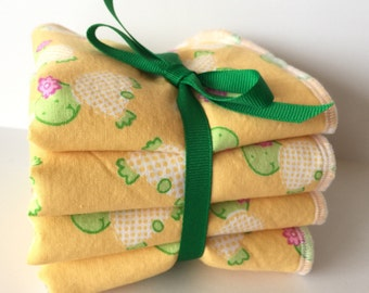Baby Wash Cloth Set - Children's Wash Cloths - Baby Bath Set - Baby Girl Gift - Baby Boy Gift - Wash Rags For Kids - Luxury Wash Cloth