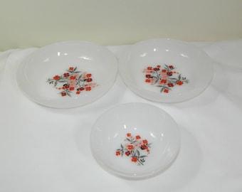 3 Fire King Primrose Bowls