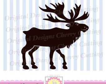 Elk, Moose SVG eps jpg png, Moose Silhouette, Christmas Silhouette Cut Files, Cricut Cut Files CHSVG21 -Personal and Commercial Use