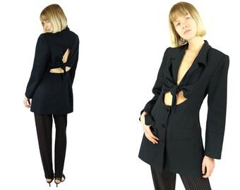 SPECTOR'S Paris Cut Out Bow Detail Jacket
