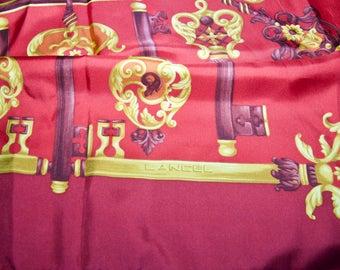 Vintage Authentic Lancel Paris Silk Scarf