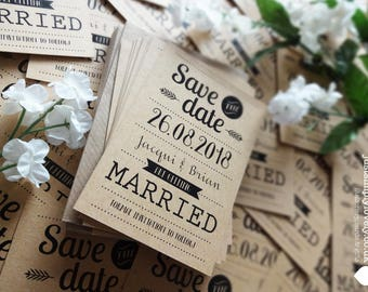 Rustic Save the Date cards (Pack of 20)