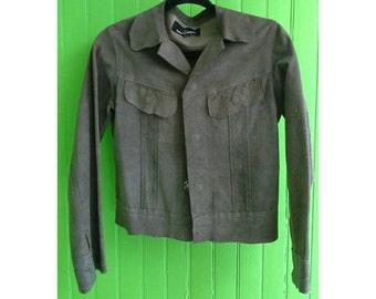 Archival Vintage Comme des Garcons Tricot Deconstructed Buckskin Suede Leather Jacket