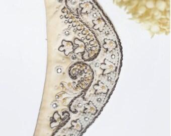Art Deco, Flapper Headband. - Antique Beadwork. // Boho Gypsy Wedding. // Vintage Hair Piece. Beaded Accessories.