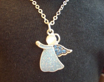 Blue and White Angel Necklace for 18 inch Doll fits American Girl, Journey Girl, etc.