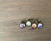 Hand made stitch markers wirh little Russian dolls - different colors