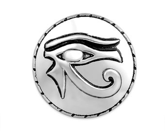 1 PC 18MM Egyptian Eye Silver Candy Snap Charm Limited Edition CC3119