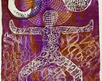 Strength in violet - yoga