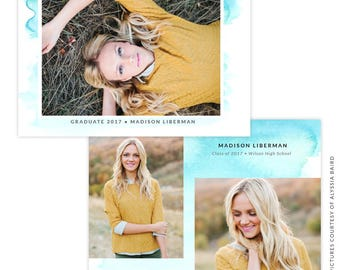 INSTANT DOWNLOAD - Graduation announcement - Photoshop Templates - E1484