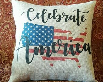 Decorative Pillow America Throw Pillow