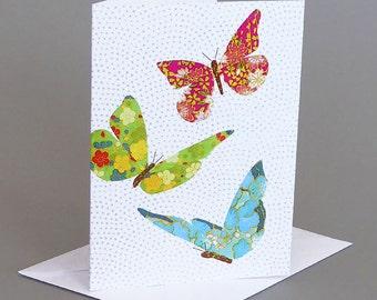 Butterflies: A nature inspired blank notecard, summer, butterfly
