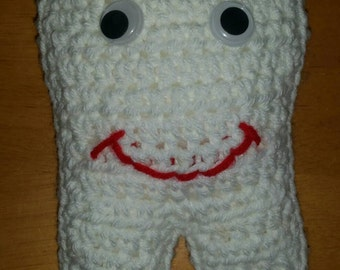 Hand crocheted tooth fairy pillow