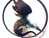 RESERVED LISTING for Jim -- Guardian Dragon Garden Art from Recycled Metal