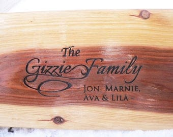 "Tree Swing Housewarming gift personalized engraved 36"" for 2 people"