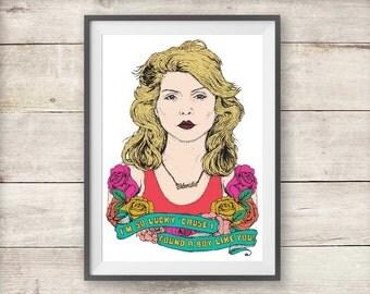 Blondie - Debbie Harry - Denis - Print - Poster - Valentines - Love