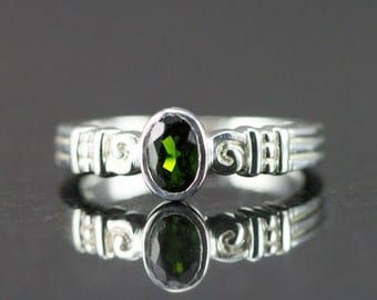 Chrome Diopside Sterling Ring - Ready to Ship Size 7 - Sample Sale