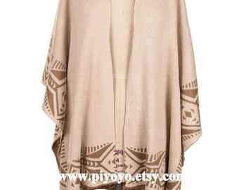 Women ponchos, Kimono Cardigan, Cape, Aztec Poncho, popular items, Best Selling wraps Shawls - By PiYOYO 46674
