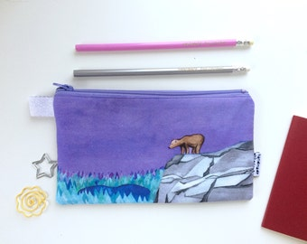 Lonely Bear Divided Pencil Case (handmade philosophy's illustration)