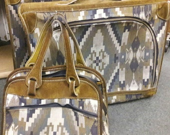 Vintage French Company - Louis Vuitton 3 piece Luggage Collection Tapestry And Suede