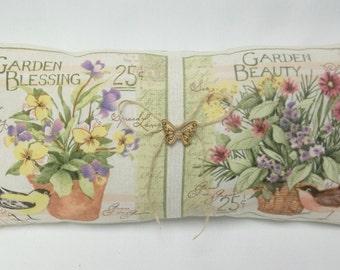 Garden Floral Accent Pillow Shelf Pillow