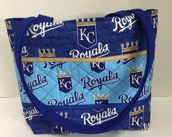 Kansas City Royals Quilted Purse - Quilted Tote -  Shopping Bag - Shoulder Bag - NHL Tote - MLB Tote - Beach Bag - Royals Purse