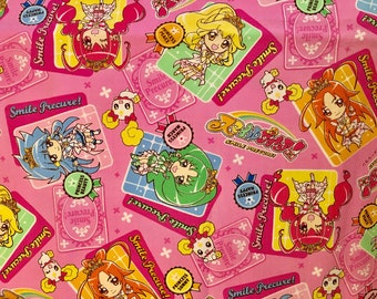 Glitter Force Fabric Japanese Pretty Cure Precure Anime Manga Girls FAT QUARTER and more
