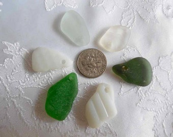 Bulk Lake Erie Beach Glass Jewelry Quality Top Drilled