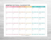 Monthly Blog + Social Media Editorial Calendar
