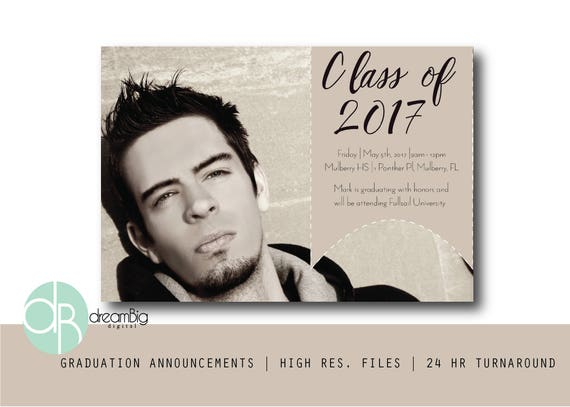 high school graduation announcements 2018