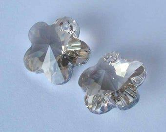 SWAROVSKI 6744 Flower crystal pendant SILVER SHADE