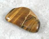 Kintsugi (kintsukuroi) inspired tigereye tumbled stone - OOAK