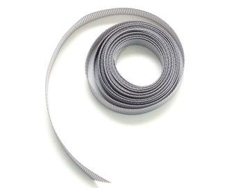 Grey Grosgrain Ribbon