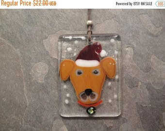 MOTHERS DAY SALE Fused Glass Dog Ornament - Bhs03599