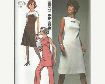 ON SALE Simplicity 9253 Designer Fashion Dress Pattern, Simplicity 9253, Size 14, UNCUT