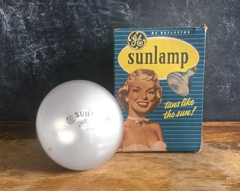 GE Sunlamp Bulb In Original Box 275 Watt Vintage Advertising