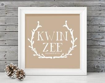 It's pronounced Kwin-Zee! (Quincy) Massachusetts Poster