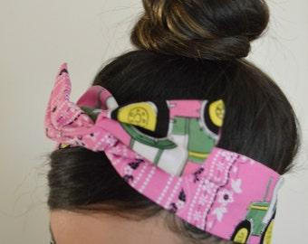 My John Deere bow, headband, Dolly bow head bands, head band, hair bow